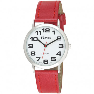 Men's Easy Read Watch - Red