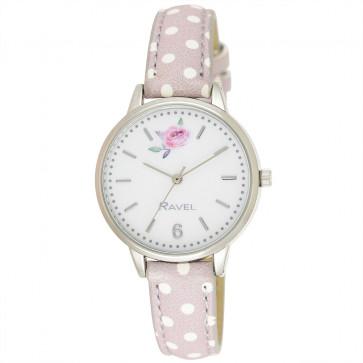 Floral Polka Dot Watch - Pebble Grey
