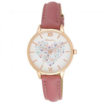 Heart Bouquet Watch - Blush Pink