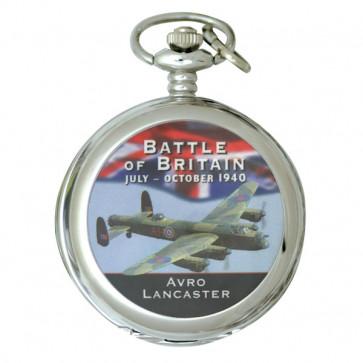 Silver Tone Battle of Britain Commemorative Pocket Watch - Lancaster