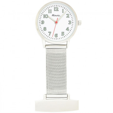 Nurses's Easy Read Mesh Watch - White