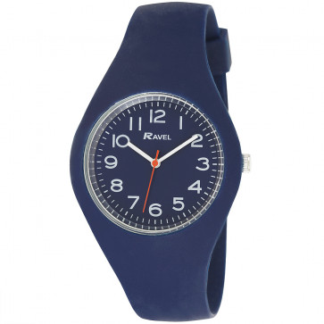 Large Comfort Fit Silicone Watch - Blue