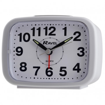 Ravel - Kingston Bold Bell Alarm Clock - White
