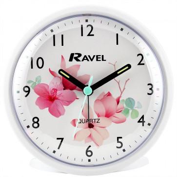 Floral Alarm clock - White