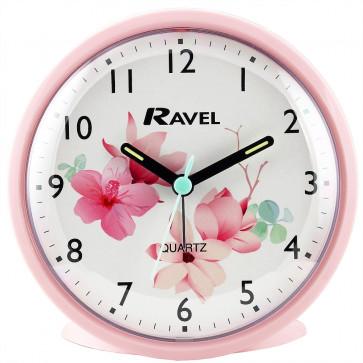 Floral Alarm clock - Pink