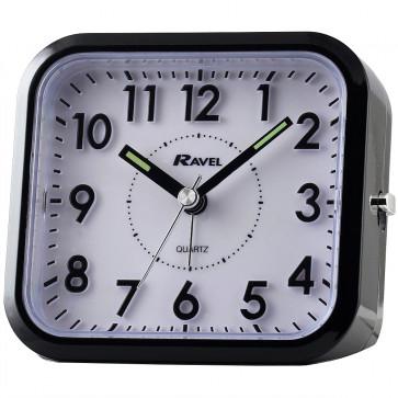 3D Numbers Alarm Clock - Black / White Dial