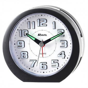 LED illuminated Alarm Clock - Black