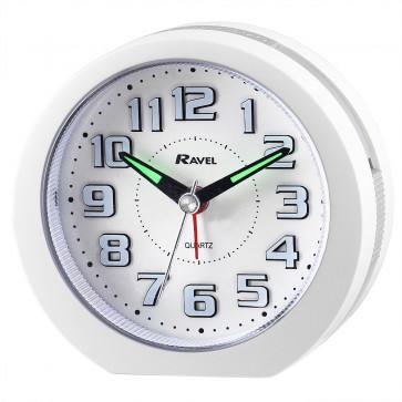 LED illuminated Alarm Clock - White