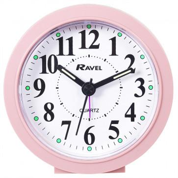 Midi Round Quartz Alarm Clock - Pink