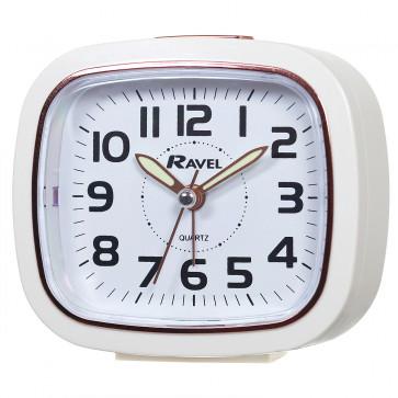 Rose Gold Tone Rimmed Quartz Alarm Clock - Gold