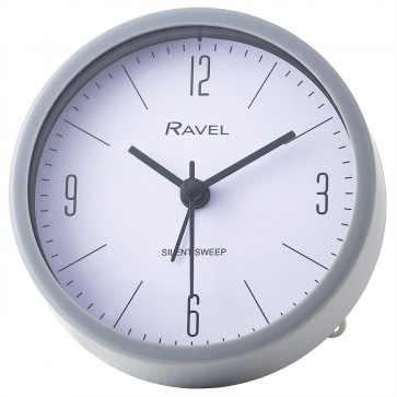 Contemporary Pastel Alarm Clock with Stand - Grey