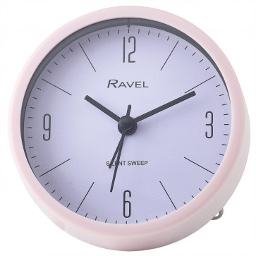 Contemporary Pastel Alarm Clock with Stand - Pink