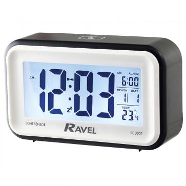 Digital Multifunction Jumbo Display Clock - Black