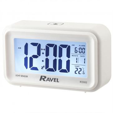 Digital Multifunction Jumbo Display Clock - White