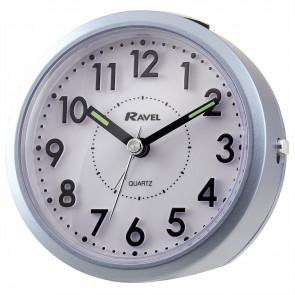 Round 3D Numbers Alarm Clock - Blue