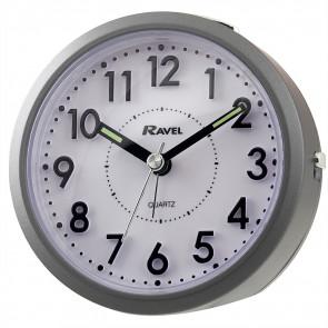 Round 3D Numbers Alarm Clock - Grey