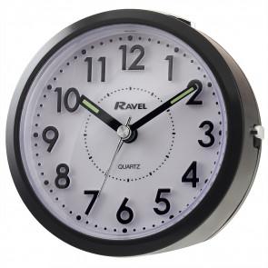 Round 3D Numbers Alarm Clock - Black