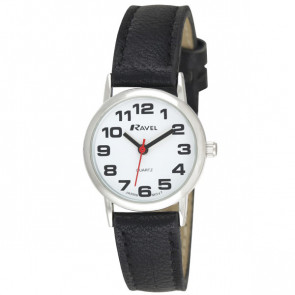 Women's Easy Read Watch - Black / Silver Tone