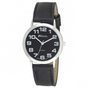 Men's Easy Read Watch - Black