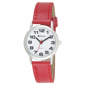 Women's Easy Read Watch - Red