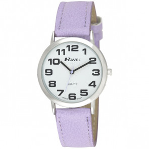 Unisex Easy Read Watch - Lilac