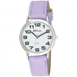 Unisex Easy Read Watch - Lilac