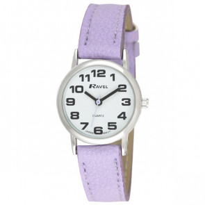 Women's Classic Bold Easy Read Strap Watch - Purple