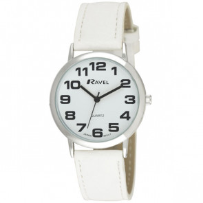 Unisex Easy Read Watch - White