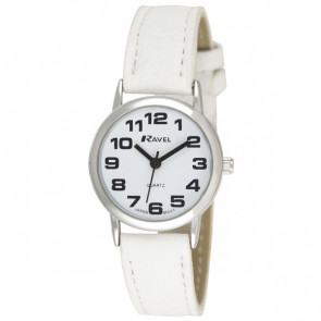 Women's Classic Bold Easy Read Strap Watch - White