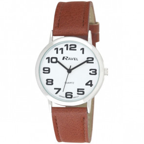 Men's Easy Read Watch - Tan