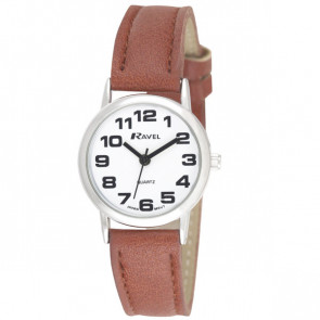 Women's Easy Read Watch - Tan