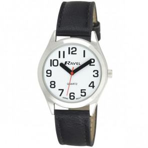 Men's Super Bold Easy Read Watch - Black / Silver Tone