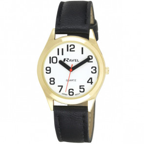 Men's Super Bold Easy Read Watch - Black / Gold Tone