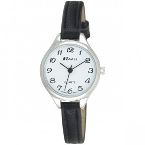 Women's Classic Cocktail Watch - Black / Silver Tone / White