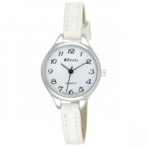 Women's Classic Cocktail Watch - White / Silver Tone / White