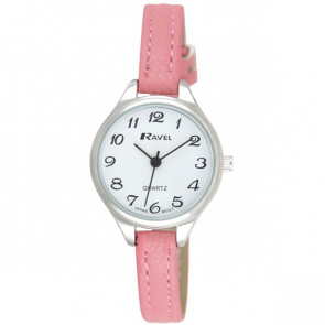 Women's Classic Cocktail Watch - Pink / Silver Tone / White