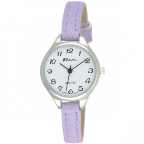 Women's Classic Cocktail Watch - Purple / Silver Tone / White
