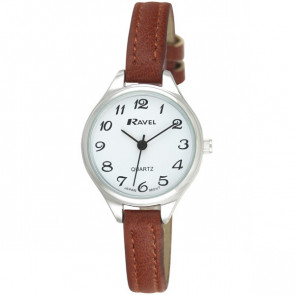 Women's Classic Cocktail Watch - Brown / Silver Tone / White