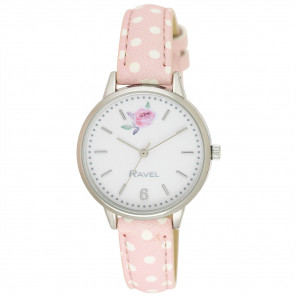 Floral Polka Dot Watch - Blush Pink
