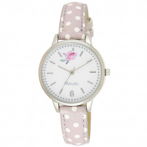 Floral Polka Dot Watch - Pebble Grey