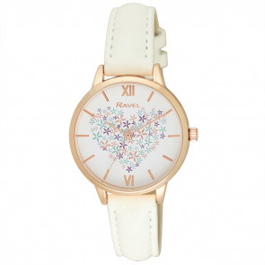 Heart Bouquet Watch - White