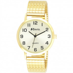 Men's Traditional Expander Watch - Gold Tone / Champagne