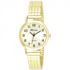 Women's Traditional Expander Watch - Gold Tone / Champagne