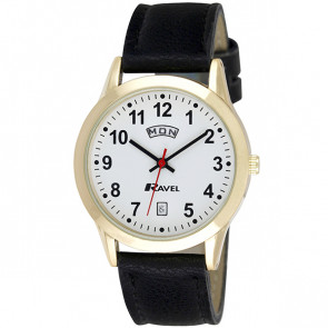 Men's Day-Date Strap Watch - Black / Gold Tone