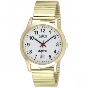 Mens Day-Date Expander Bracelet Watch - Gold Tone