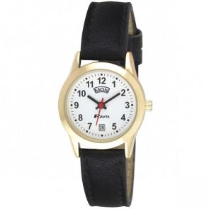 Women's Day-Date Strap Watch - Black / Gold Tone