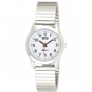 Women's Day-Date Expander Bracelet Watch - Silver Tone