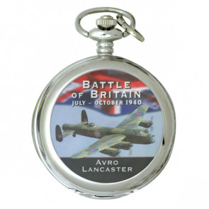 Silver Tone Battle of Britain Commemorative Pocket Watch - Lancaster