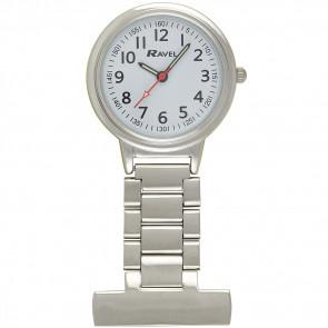 Easy-Read Nurses Watch - Silver Tone