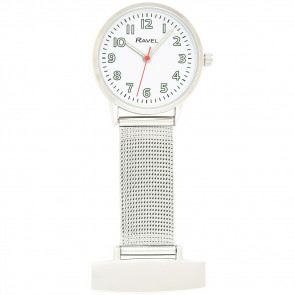Nurses's Easy Read Mesh Watch - White
